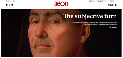 Aeon article front page
